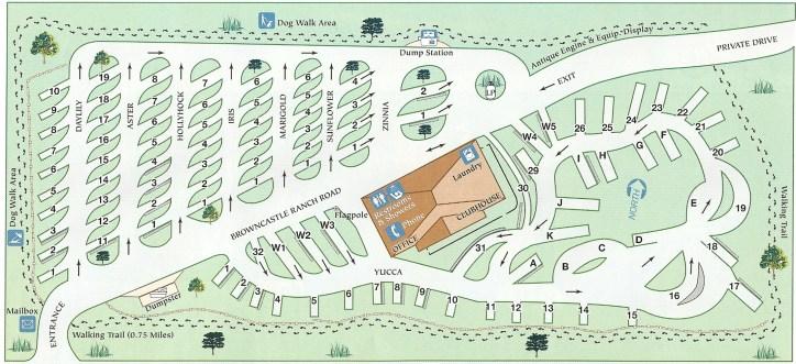 Map of RV Park (from Santa Fe Skies website)