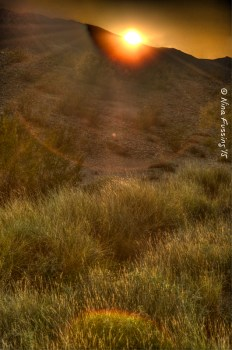 Desert HDR sunset