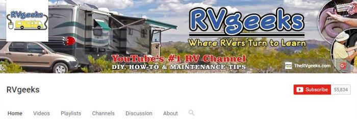 RV Geeks on Youtube. Yes, I'm a fan!