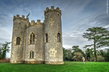 """The """"folly"""" castle. See my dad strolling on the right?"""