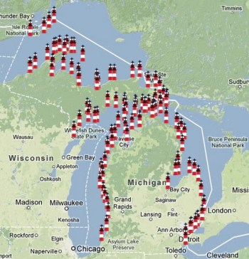 There are more lighthouses in MI than ANY other state