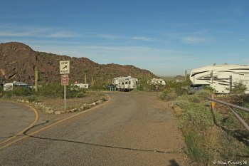 Entrance of B loop. Site B1 on immediate right, B2 on left.