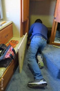 It's cramped work