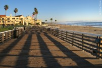 The wooden walkway by Pismo