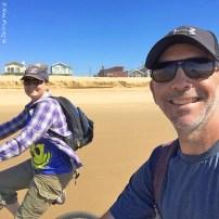 Biking towards Oceano Dunes