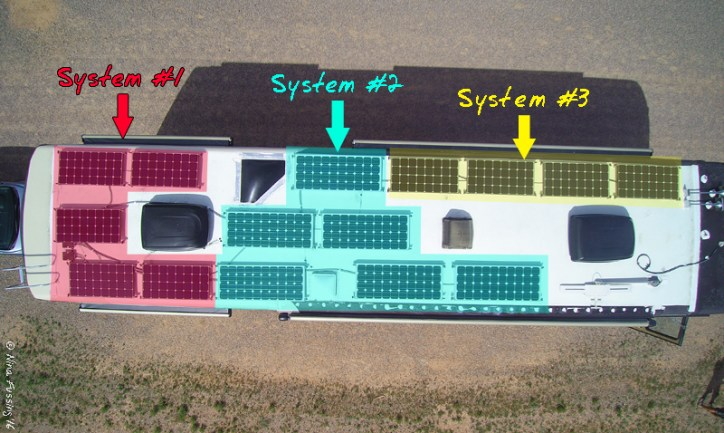 "Our 3 roof ""solar arrangements"""