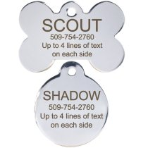 Pet tags are cheap and easy