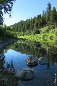 The pretty Grand Ronde River by our RV site