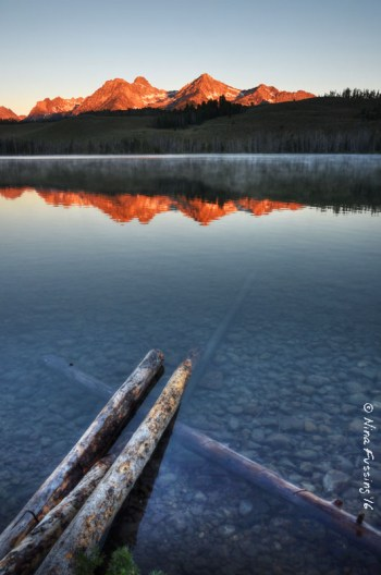 Little Redfish Lake reflections