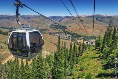 In the gondola on Bald Mountain