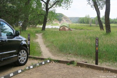 View of walk-in tent sites. #55-66. These all have nice views.