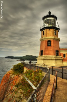 Split Rock Lighthouse on a grey day