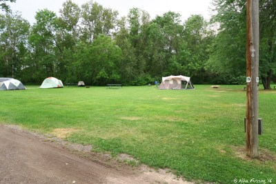 View of tent only sites #68-72.