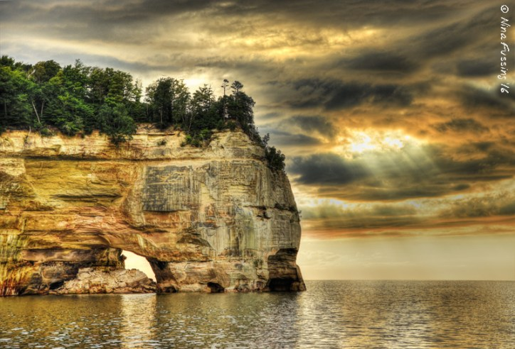 """My """"winning"""" shot of Pictured Rocks. They sure are pretty."""