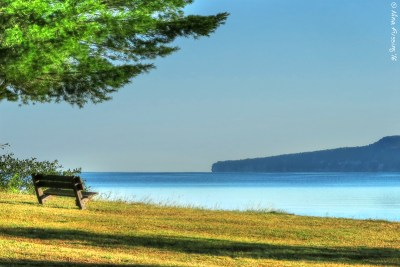 Perfect morning by the lake at Munising, MI