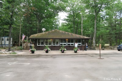 Check-in office at entrance to Mill Creek Campground
