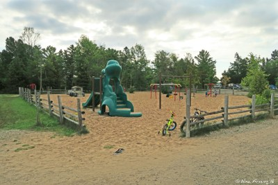 One of several playgrounds on-site
