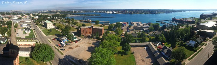 Panoramic views from the top of the tower