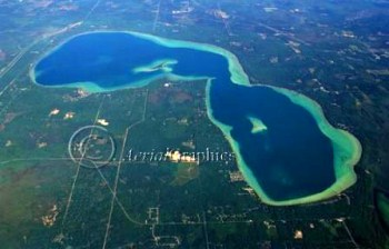 Arial view of the lake