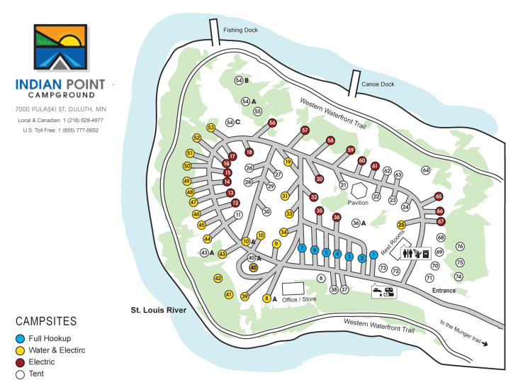 Campground Map. Click for larger size.