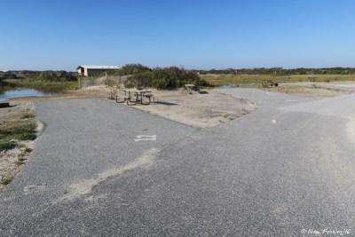 View down C loop. Site C12 on left with C11, C9 behind it.