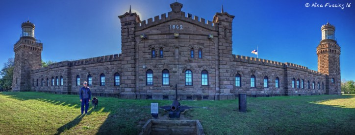 Panorama of the amazing Navesink Twin Lights