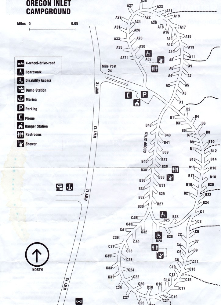 Oregon Inlet Campground Map NP Campground Review – Oregon Inlet, Hatteras National Seashore