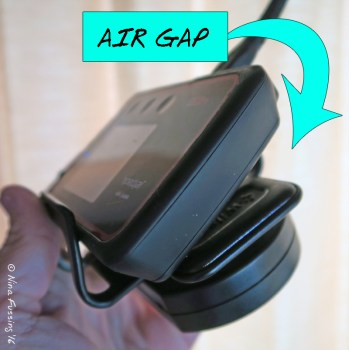 We usually tilt our MiFi in the Cradle to get an air gap