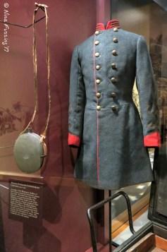 A Confederate Uniform on display