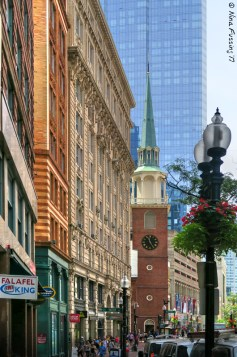 Street views from the Freedom Trail