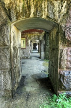 Looking through Fort Popham