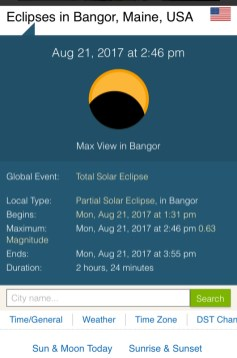 Tracking the eclipse on my phone
