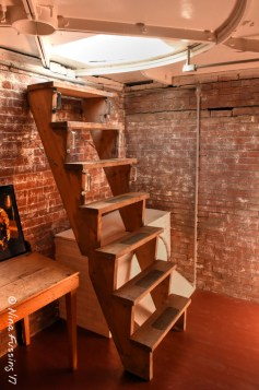 The ladder to the lens room