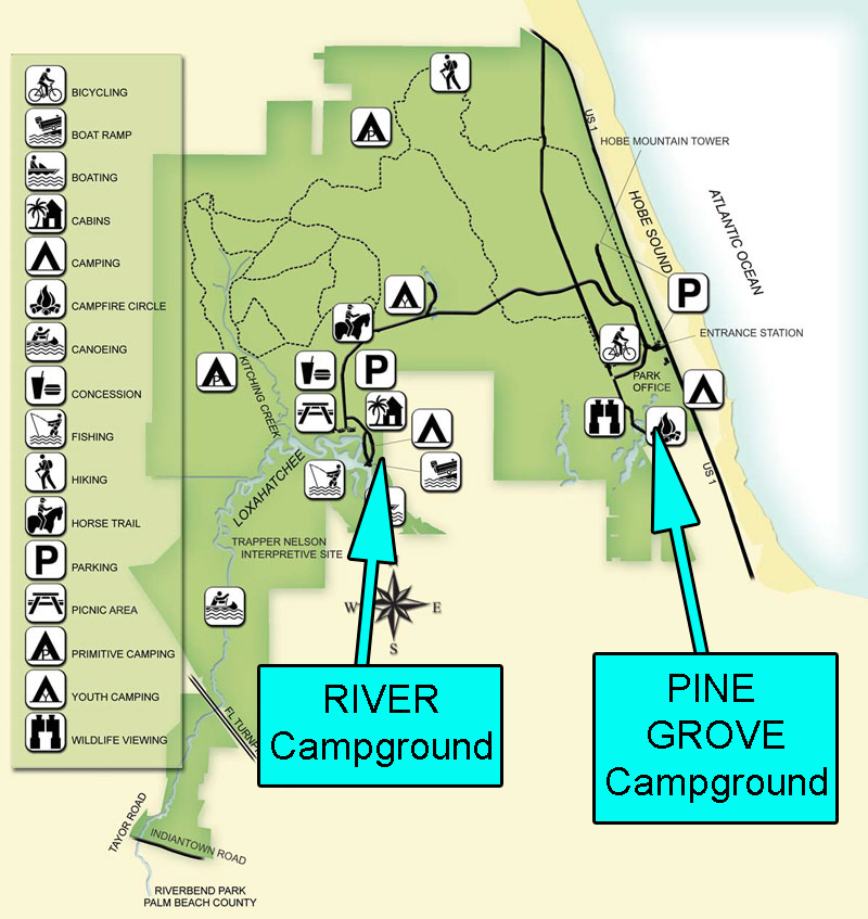 Jonathan Dickinson State Park Map SP Campground Review – Jonathan Dickinson State Park, Jupiter, FL