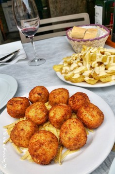 A typical Spanish tapas lunch. Delicious stuff!