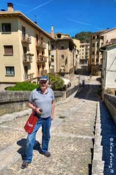 Dad on the medieval Prison Bridge