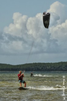 This is a very popular kite-surfing spot