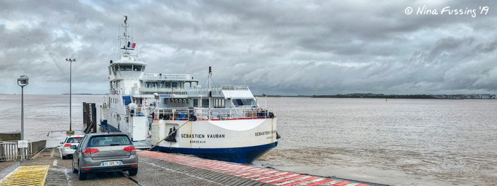Our ferry across the Gironde