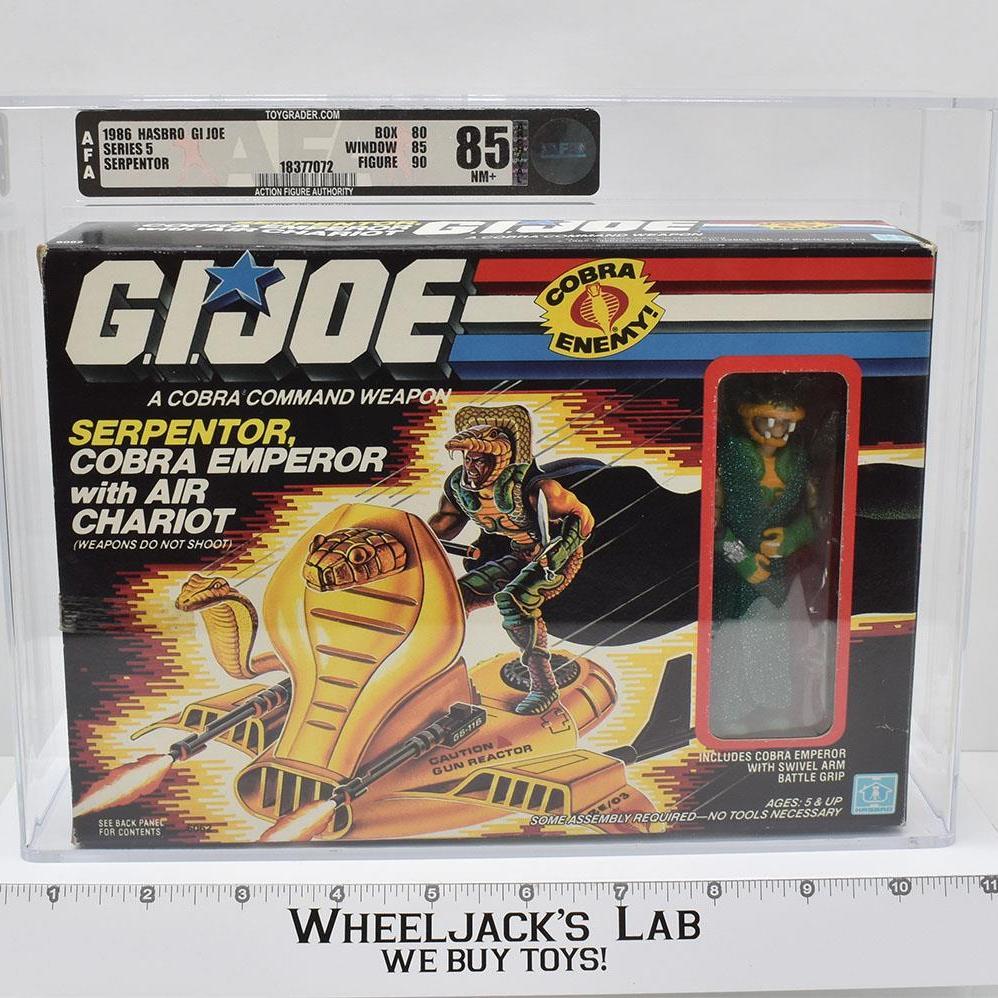 Hasbro 1986 GI Joe Serpentor w/ air chariot (AFA 85)