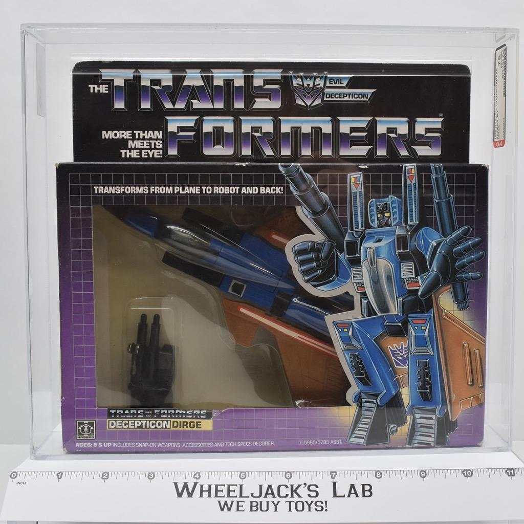 Hasbro 1985 Transformers Dirge AFA Graded
