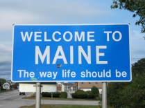 USA Welcome signs - Maine 2