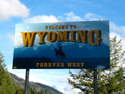 USA Welcome signs - Wyoming