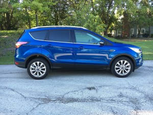 The 2017 Ford Escape in Titanium trim and Lightning Blue coat starts at $29,100. (Robert Duffer/Chicago Tribune/TNS)