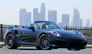 Porsche 911 Turbo S cranks out 580 horsepower from its turbo 3.8-liter, flat-six engine on September 16, 2016 in La Canada, Calif. (Myung J. Chun / Los Angeles Times)