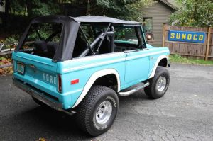 21_FEA_122119BW03  Bud Wilkinson Republican-American   The 1974 Ford Bronco has a convertible top and windowless doors.