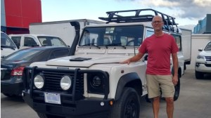 Land Rover Defender 2006, headed for Costa Rica's Nicoya Peninsula.