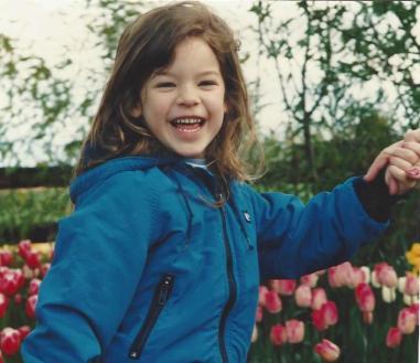Amanda-5- Mt. Vernon Tulips-April 1993