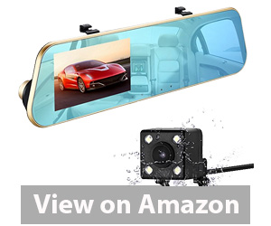 isYoung 720P HD Car Video Recorder Mirror Dash Cam Rearview Mirror Cam Review