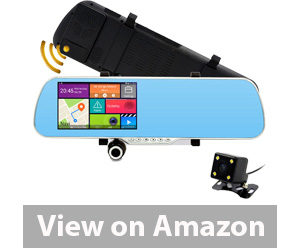 Best Rear View Camera - Junsun Dash Cam Car Camera DVR GPS Bluetooth Dual Lens Rearview Mirror Video Recorder Review
