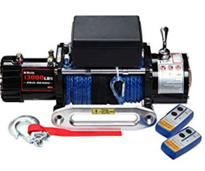 X-BULL 12V Synthetic Rope Electric Winch 13000 lb.Load Capacity Review
